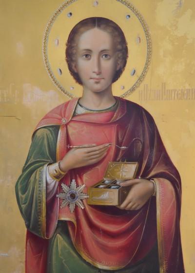 Icoana Sfîntului Mare Mucenic și tămăduitor Pantelimon.-de la Muntele Athos